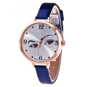 YBOTTI Faux Leather Analog Watch with Pretty Glance - Blue