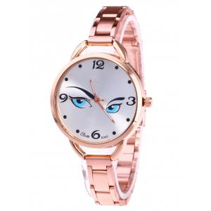 YBOTTI Wrist Quartz Watch with Pretty Glance - Rose Gold