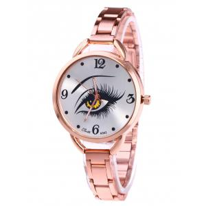 YBOTTI Wrist Quartz Watch with Beauty Eye - Rose Gold