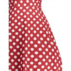 Retro Sleeveless Polka Dot Pin Up Dress -