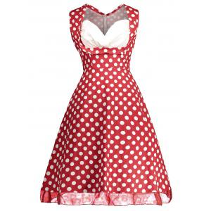 Retro Sleeveless Polka Dot Pin Up Dress