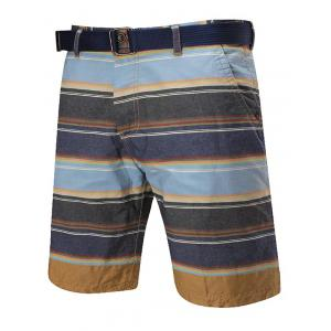 Zip Fly Striped Reversible Shorts