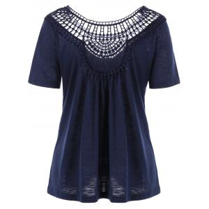 Lace Insert Hollow Out Tee -