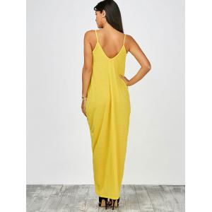 Floor Length Beach Slip Dress - YELLOW 2XL