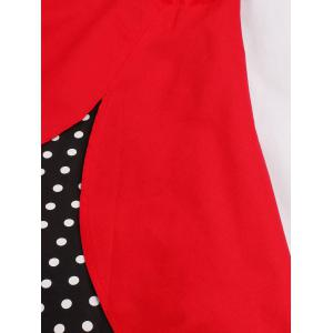 Halter A Line Vintage Spotted Dress -