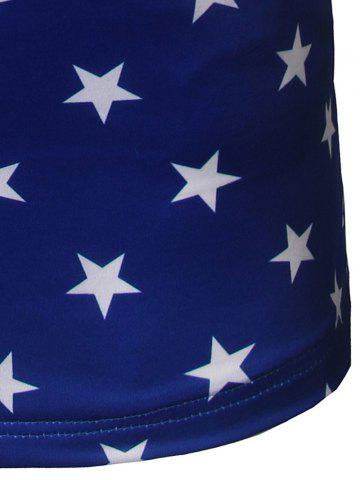 New All Over Star Printed Tank Top - M BLUE Mobile