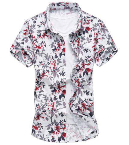 Buttoned Floral Casual Shirt