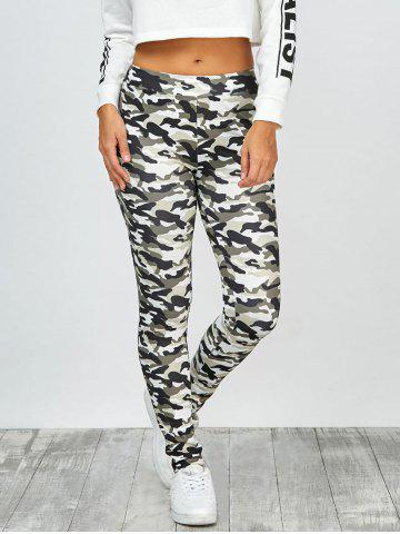 Store High Waisted Camo Leggings - M JUNGLE CAMOUFLAGE Mobile