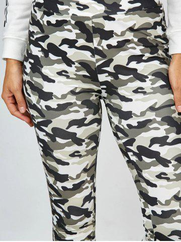 New High Waisted Camo Leggings - L JUNGLE CAMOUFLAGE Mobile