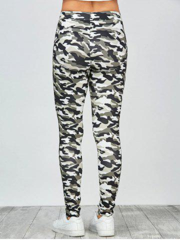 Affordable High Waisted Camo Leggings - XL JUNGLE CAMOUFLAGE Mobile