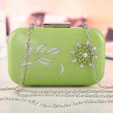 New Chains Flower Hollow Out Evening Bag CLOVER