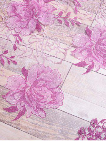 Best Window Screen Flower Sheer Fabric Tulle with Pendant Decor - W39 INCH*L79 INCH PINK Mobile