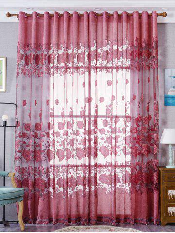 Best European Sheer Window Flower Tulle Curtain For Living Room