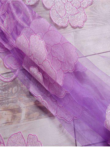 Affordable Jacquard Sheer Tulle Curtain Window Door Screen - LIGHT PURPLE W39 INCH*L98 INCH Mobile