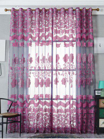 Cheap Jacquard Sheer Tulle Curtain Window Door Screen - W39 INCH*L79 INCH VIOLET Mobile