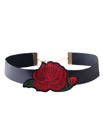 Latest Alloy Floral Embroidered Choker Necklace