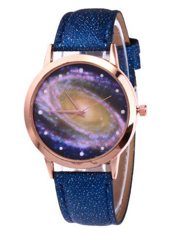 Buy Starry Sky Pattern Faux Leather Watch