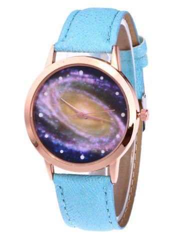 Affordable Starry Sky Pattern Faux Leather Watch