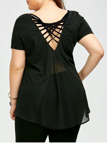 Outfit Plus Size Chiffon Panel Cage T-Shirt