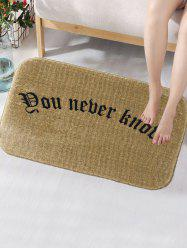 Letter Word Skidproof Flannel Foam Bath Mat