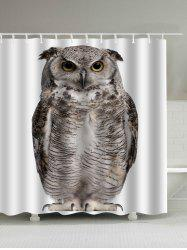 Digital Owl Art Print Waterproof Shower Curtain