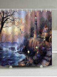 Oil Painting Fairyland Print Waterproof Shower Curtain
