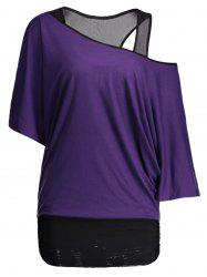Dolman Sleeve Color Block Plus Size Top