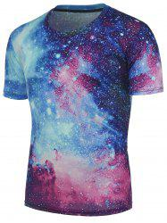3D Starry Sky Printed Galaxy T-Shirt