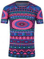 Short Sleeve Tribal Printed T-Shirt