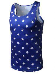 All Over Star Printed Tank Top - BLUE