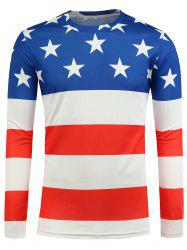 Star and Stripe Print T-Shirt