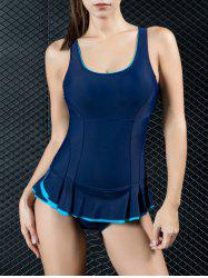 Padded Push Up Swimsuit with Ruffles