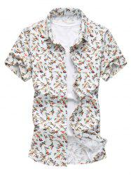 Stretch Floral Print Short Sleeve Shirt