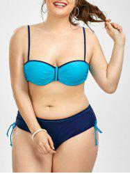 Push Up Spaghetti Strap Plus Size Bikini