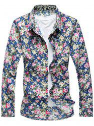 Casual Long Sleeves Floral Printed Shirt