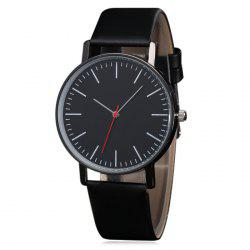 Artificial Leather Casual Quartz Watch -
