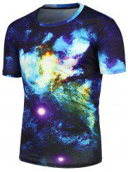 3D Galaxy Nebula Printed T-Shirt