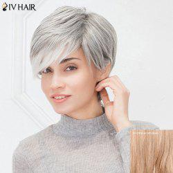 Siv Hair Short Layered Cut Fluffy Side Bang Human Hair Wig
