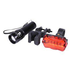 5 LED Butterfly Taillight Flashlight and Cycling Lamp Clip Set