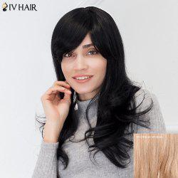 Siv Hair Long Slightly Curly Side Bang Human Hair Wig