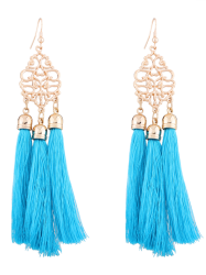Alloy Engraved Tassel Earrings