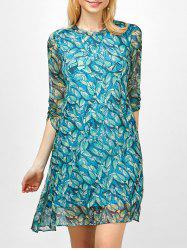 Printed Semi Sheer Chiffon Dress