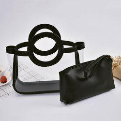 Wristlet and Transparent Handbag Set