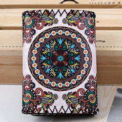 Tribal Print Whipstitch Tri Fold Wallet - COLORMIX