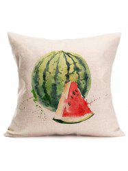 Watercolor Watermelon Print Linen Throw Pillow Case