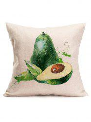 Watercolor Avocado Print Linen Throw Pillowcase