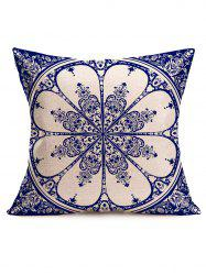 Ethnic China Print Linen Square Sofa Pillowcase - PURPLISH BLUE