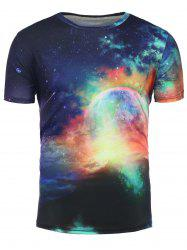 3D Colorful Galaxy Print Trippy T-Shirt