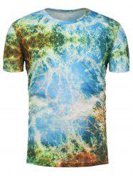 3D Tie Dye Print Short Sleeve Trippy T-Shirt