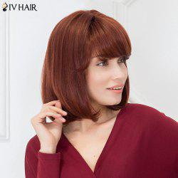 Siv Hair Inclined Bang Silky Straight Bob Short Human Hair Wig
